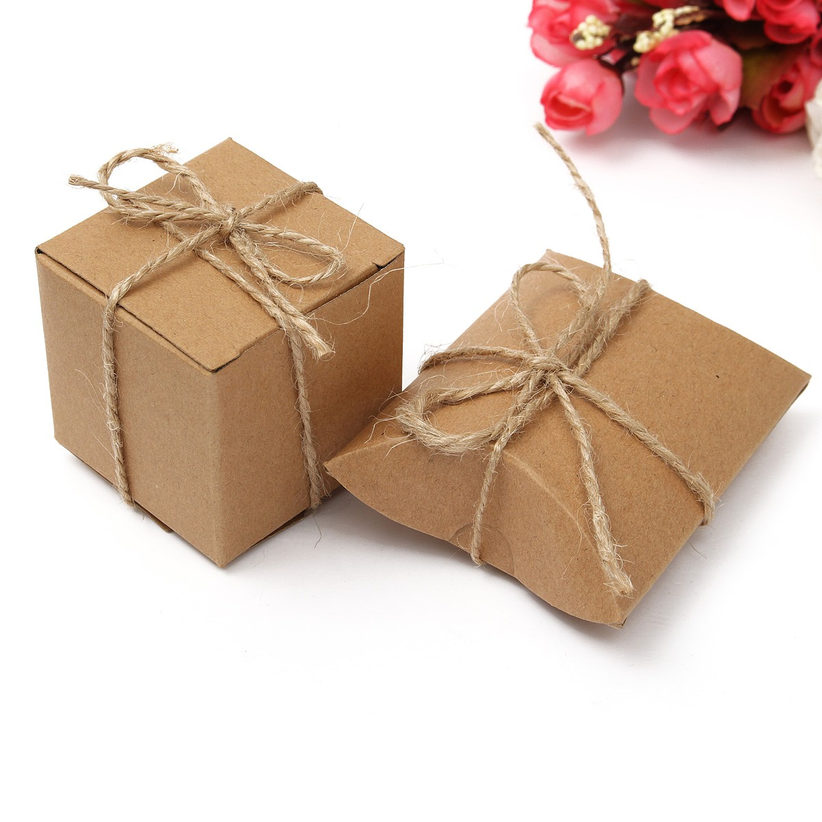 Wedding Gift Box Wholesale : ... 12 Brown Card Gift Pillow Box Boxes Wedding FavourWholesale Party Box
