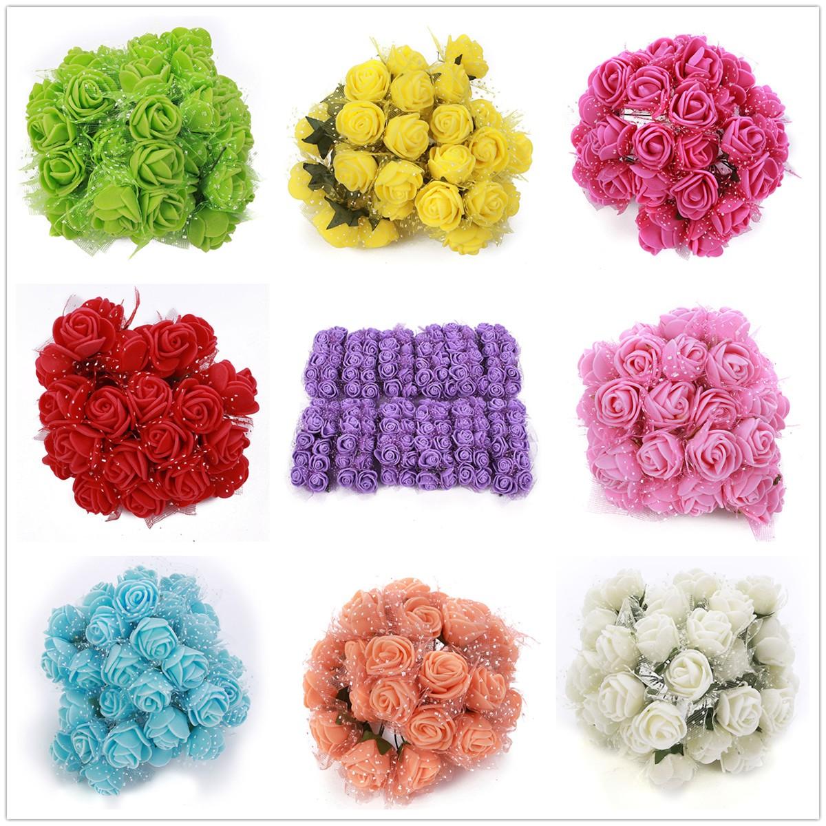 bouquet fleur artificielle mousse d co mariage maison 144pcs rouge achat vente fleur. Black Bedroom Furniture Sets. Home Design Ideas