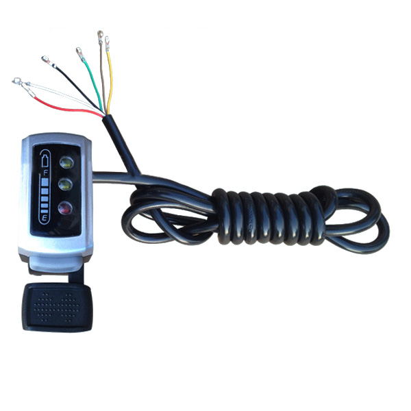 7/8 Manubrio elettrico della manubrio elettrica Speed Batteria Throttle del timone dell'indicatore con auto serratura
