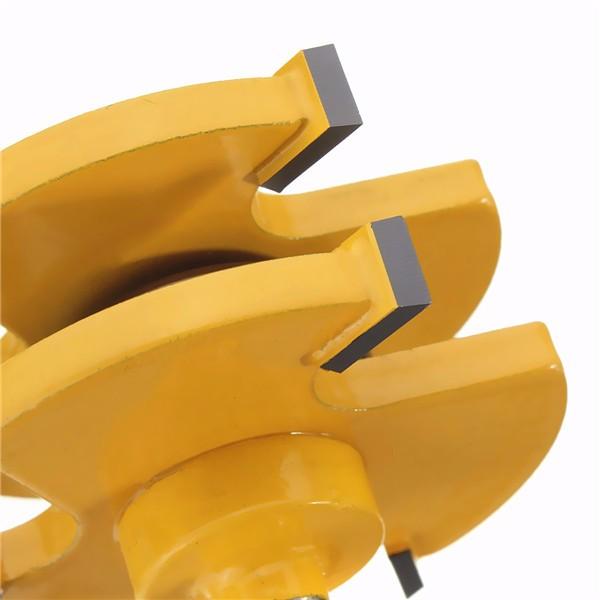 2Pcs 舌&グルーヴ  ルーター  ビット  セット  1/4インチ  シャンク  3歯  T字型  ウッド  ミーリング  カッター