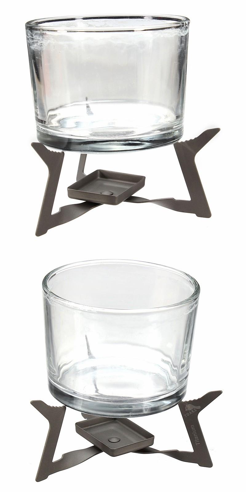 Ao ar livre portátil titânio puro caldeira álcool sólido e fogão dobrável
