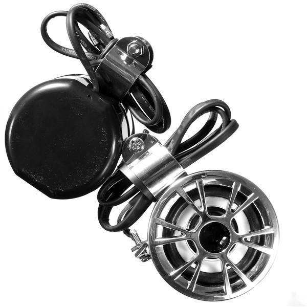 オートバイステレオスピーカーハンドルバー防水ダートバイクATVオーディオシステム