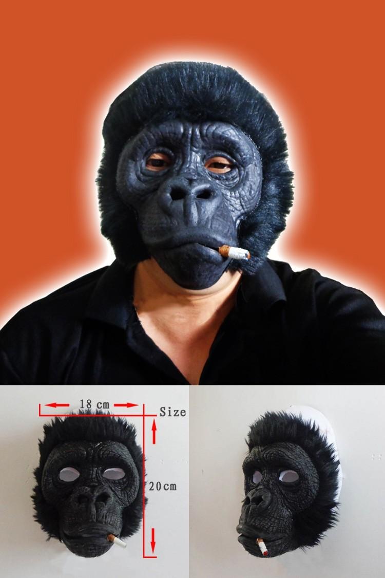 Halloween Baboon Monkey Orangutan Leopar Lateks Hayvan Yüzü Maske Kostüm Partisi