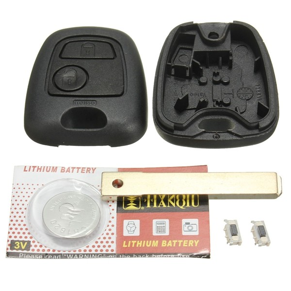 Two Buttons Remote Full Repair Kit Key Fob Case For TOYOTA AYGO
