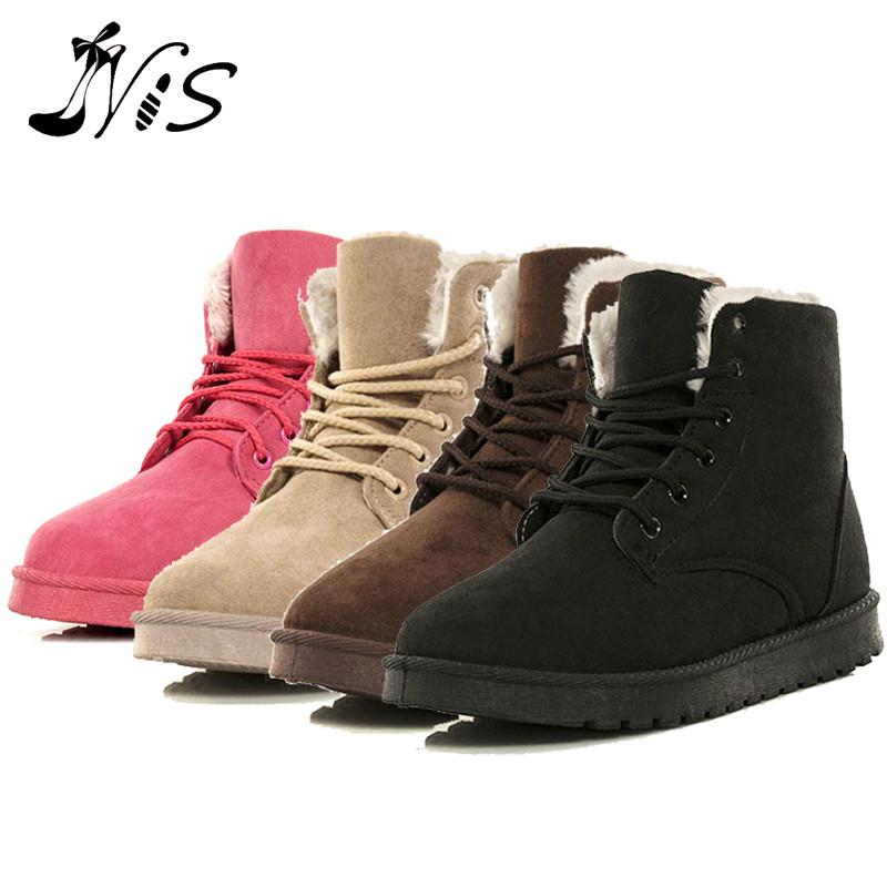 Women Warm Winter Boots in Tube Cotton Footwear Shoes