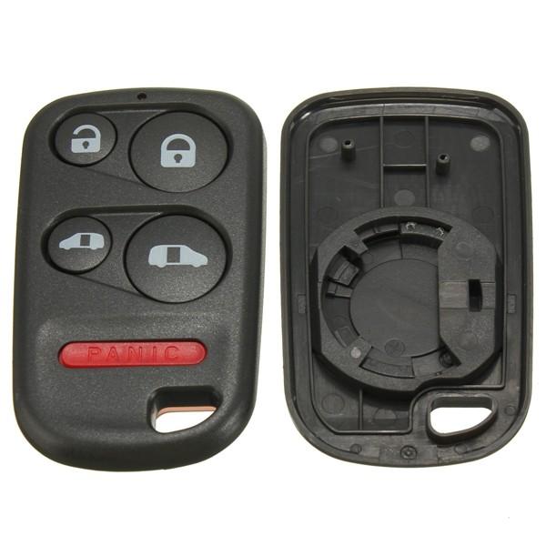 4Button+Panic Remote Entry Key Keyless Case Shell for Honda Odyssey