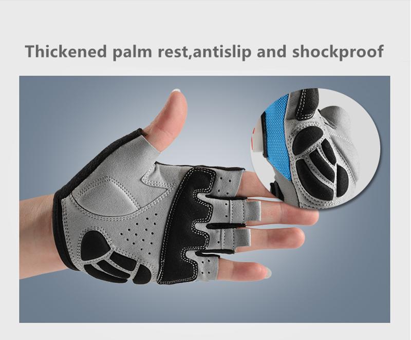 ROCKBROS Мужская летняя половина Finger Riding Перчатки С интеллектуальным стальным кольцом светлая светлая Перчатки