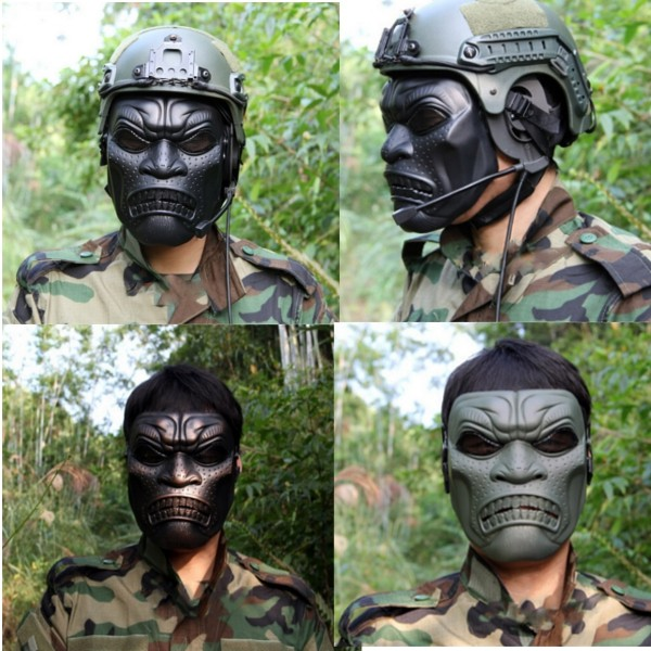 ハロウィーンの頭蓋フェイスマスクは、パーティームービーの小道具を保護するDC - 06