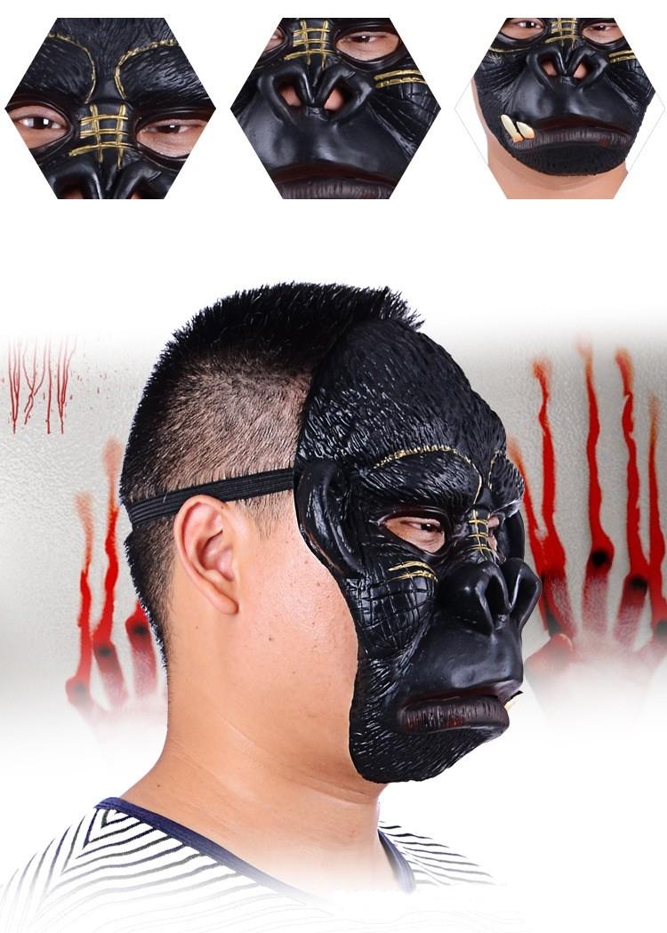 ハロマスパーティーマスクチンパンジー動物の役割ラテックスハロウィンマスク