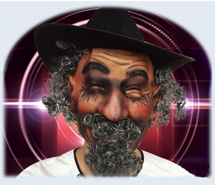 imitazione baffi capelli ricci parrucche maschera in lattice