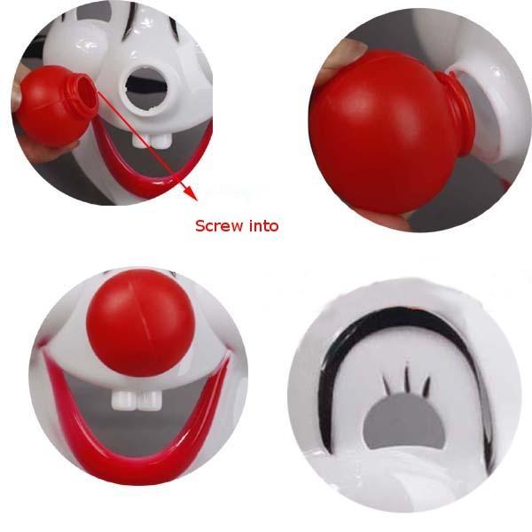 Pagliaccio maschera rossa naso cosplay per Halloween cartoon partito circo