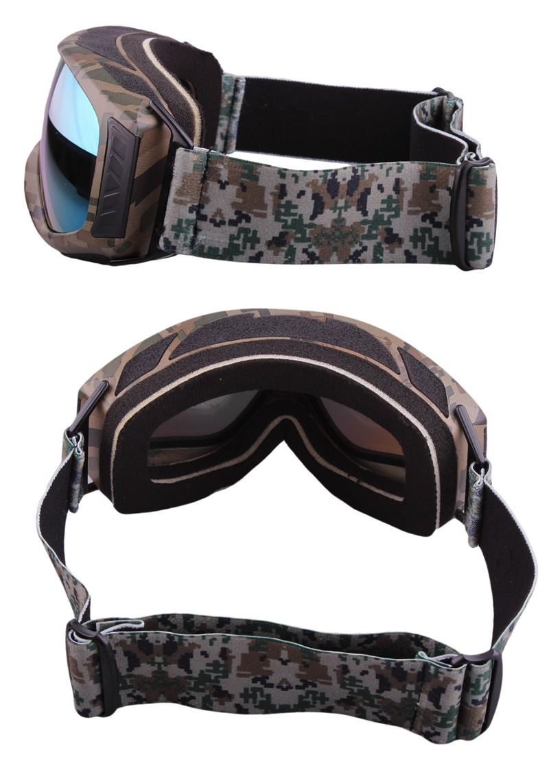 Occhiali sport all'aria aperta vetri occhiali da sci antinebbia moda