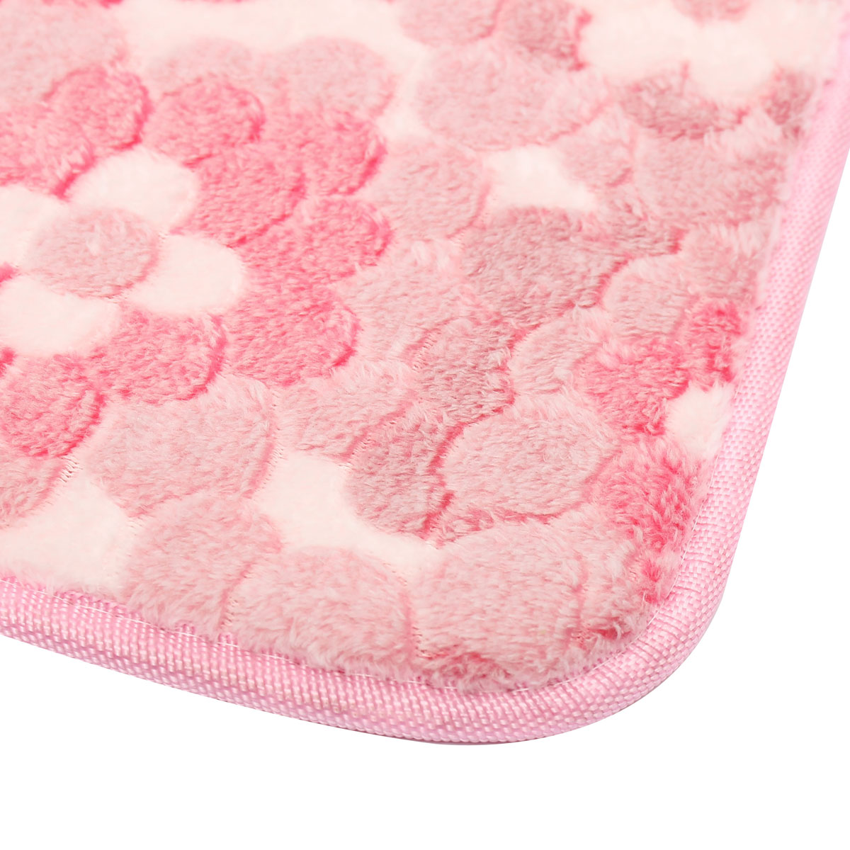 New Soft Non-slip Carpet Floor Mat Rug Shower Bathroom Bedroom Home Kitchen Pad Pink Flowers ...