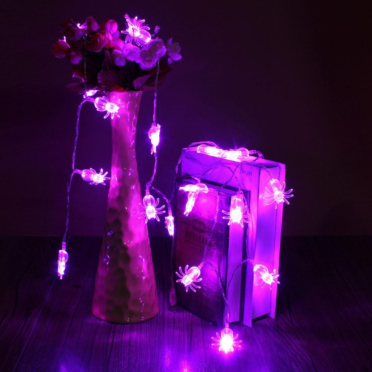 Blue led spider light halloween party decration lights