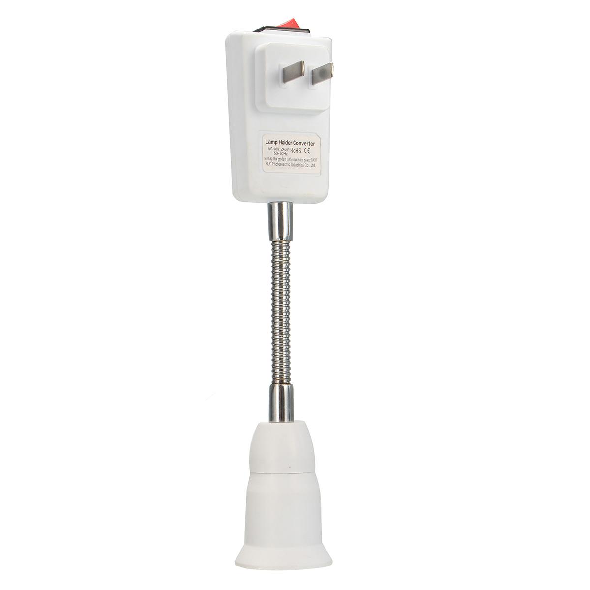 Wall Socket Light Bulb Adapter : US Plug to E27 LED Light Lamp Bulbs Wall Socket Base Adapter Converter Switch Lazada PH