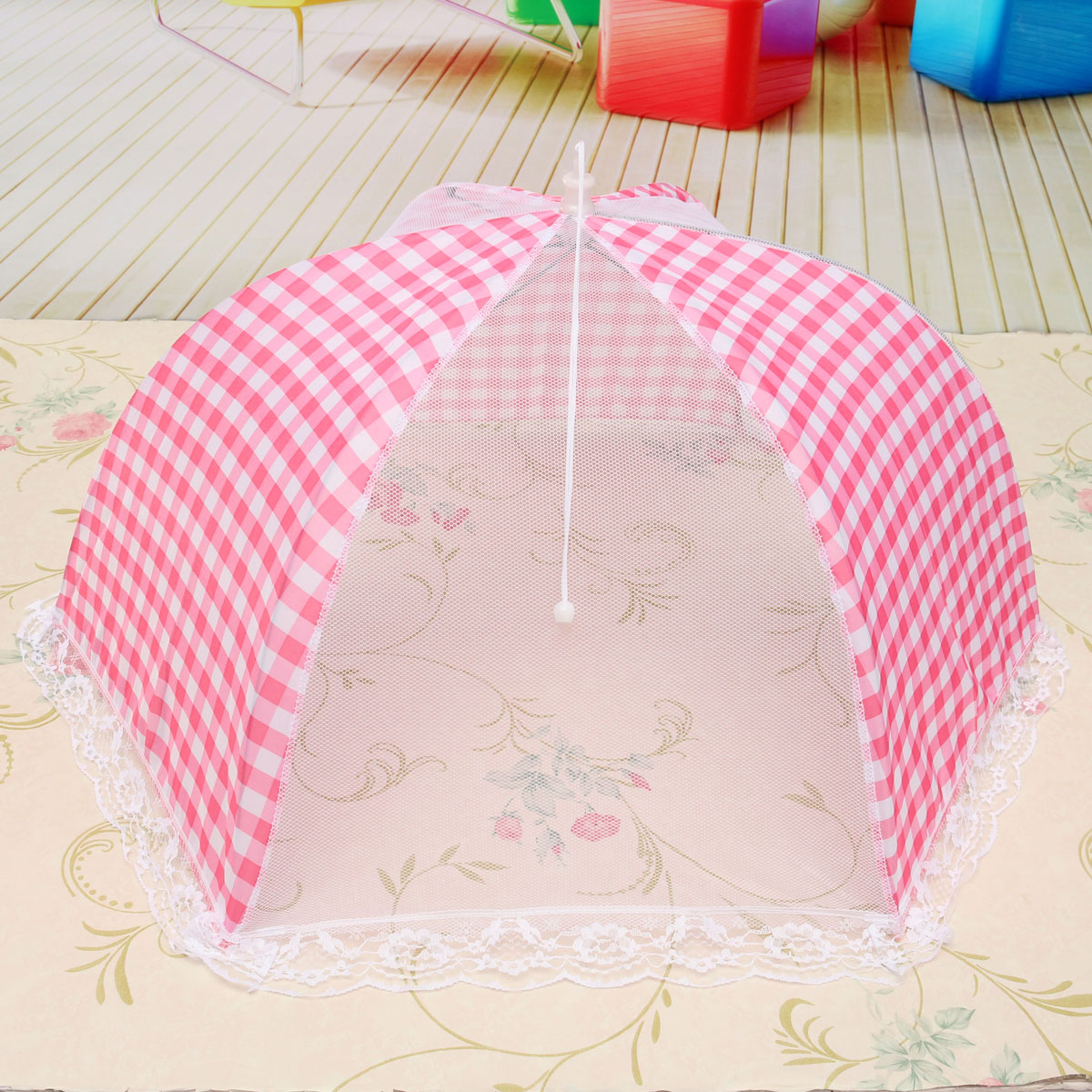 Collapsible Food Umbrella Cover Pop Up Dome Mesh Round (Pink)   Lazada ...