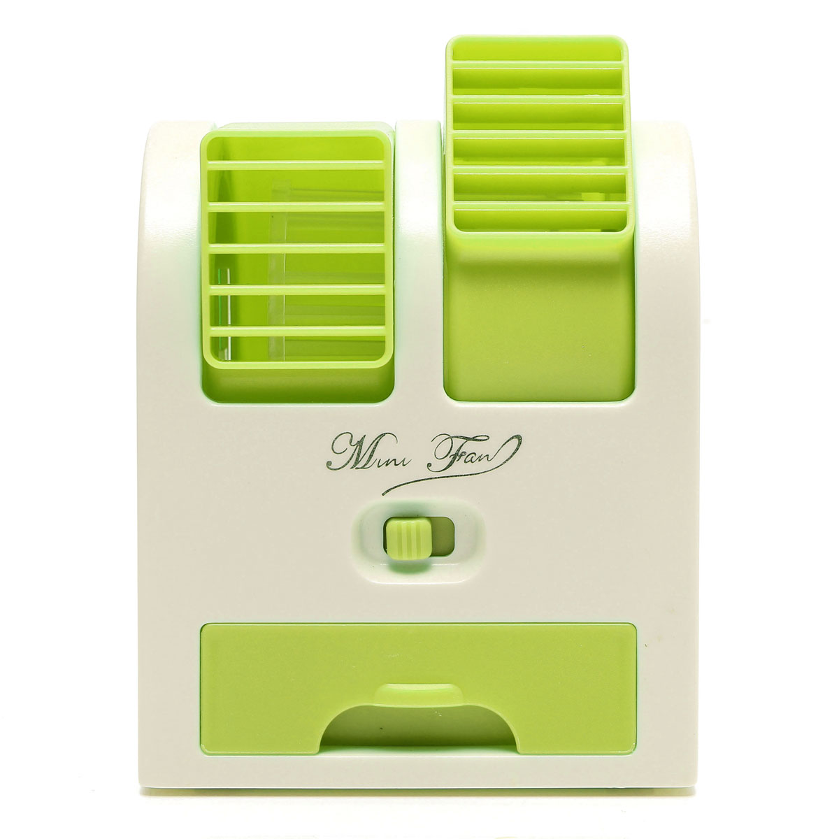 USB Small Fan Cooling Portable Desktop Dual Bladeless Air Conditioner  #4A6908