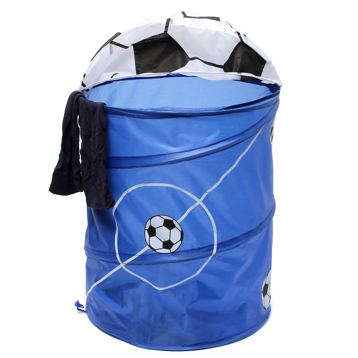 foldable pop up football washing clothes laundry bag. Black Bedroom Furniture Sets. Home Design Ideas