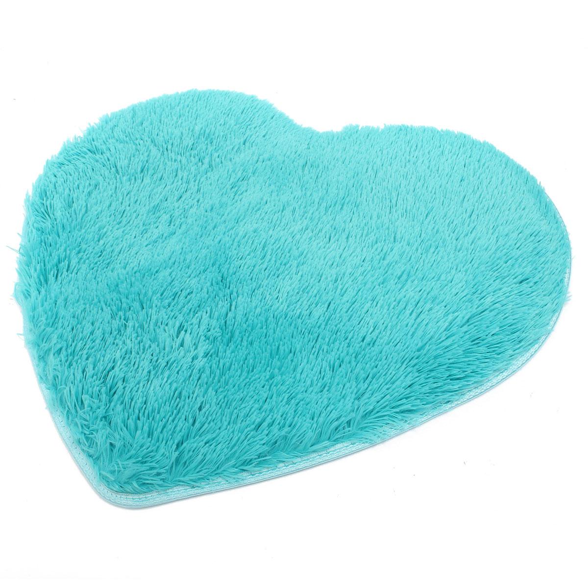 Heart Fluffy Mat Rugs Kids Soft Girls Boys Fake Faux Fur