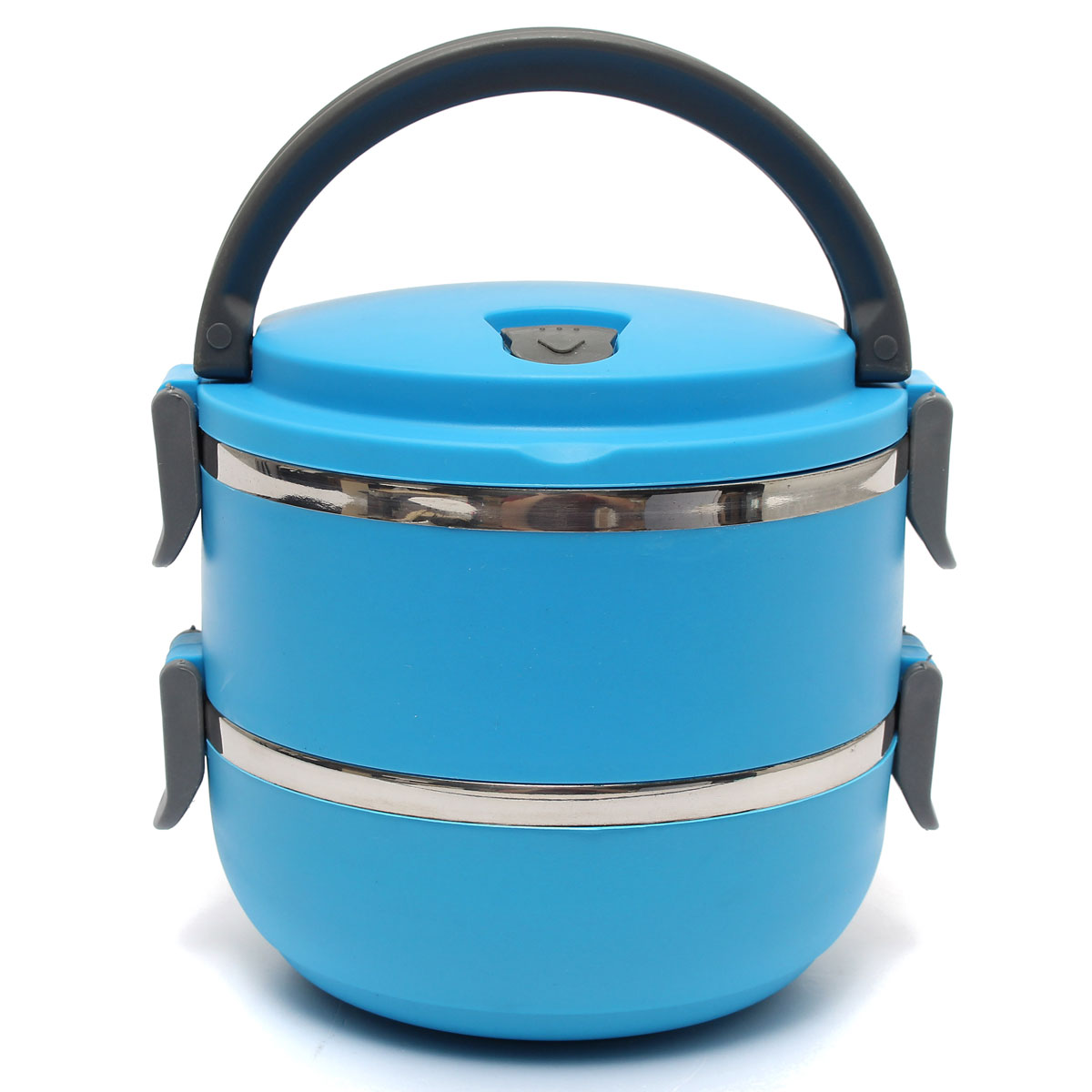 stainless steel portable insulation thermal lunch box food container handle blue export. Black Bedroom Furniture Sets. Home Design Ideas