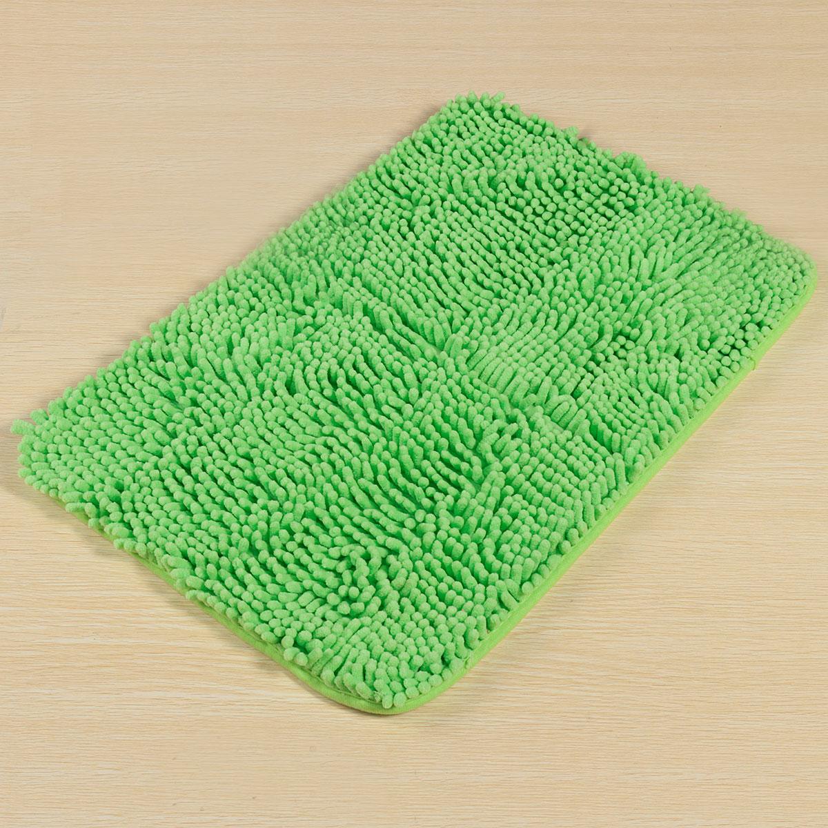 Washable bedroom floor mat shaggy rugs non slip pad thick shag pile 40x60cm green intl - Deep pile carpet protector ...