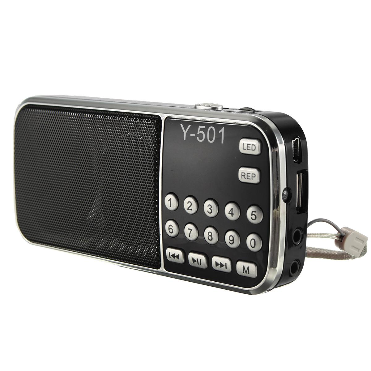 rechargeable mini lcd digital fm radio speaker usb tf card. Black Bedroom Furniture Sets. Home Design Ideas