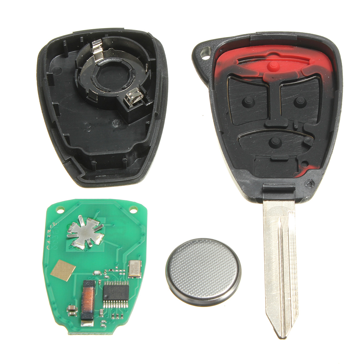 Replacement 4 Button Uncut Keyless Entry Remote Key K0BDT04A for Chrysler Dodge (EXPORT ...