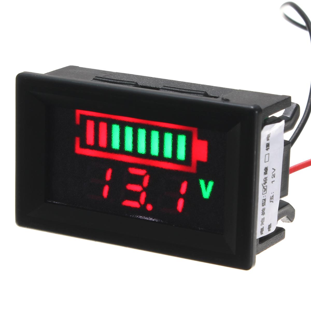 12v Battery Meter : New v lead acid battery indicator intuitive voltage led
