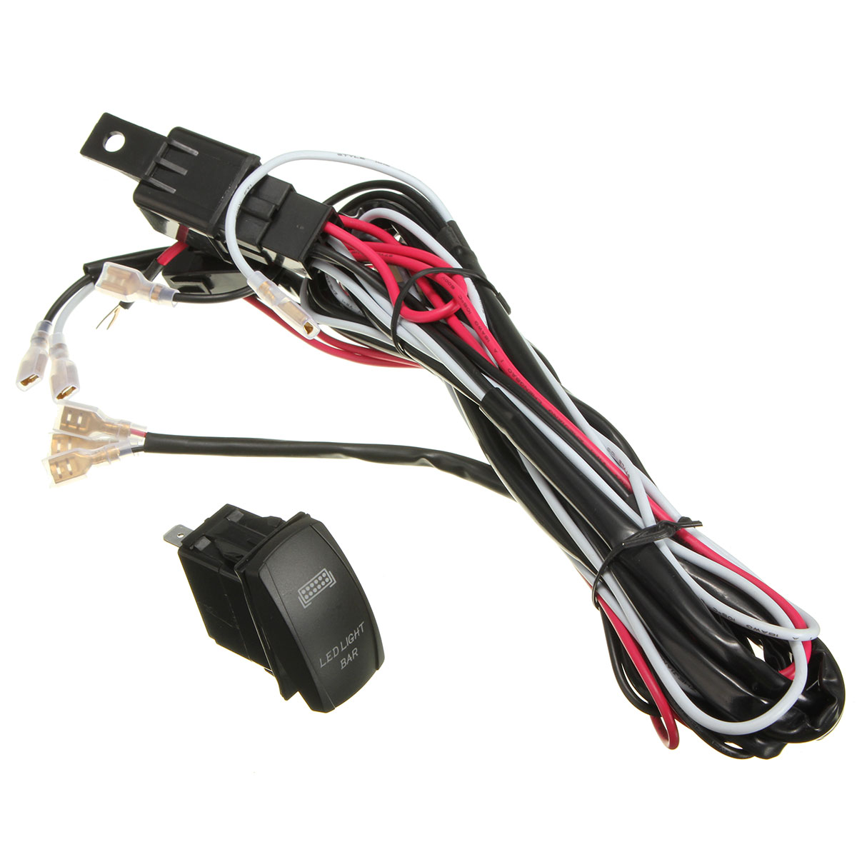 led light bar on rocker switch wiring harness kit 40a relay for atv jeep lazada ph