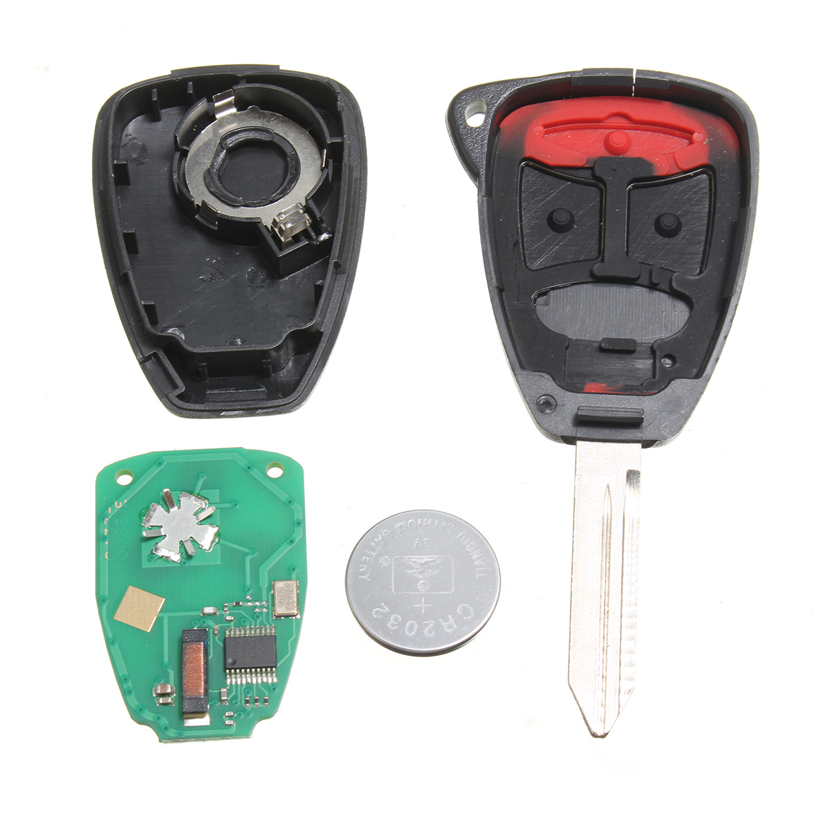 Replacement 3b uncut keyless entry remote head key k0bdt04a for chrysler dodge lazada malaysia