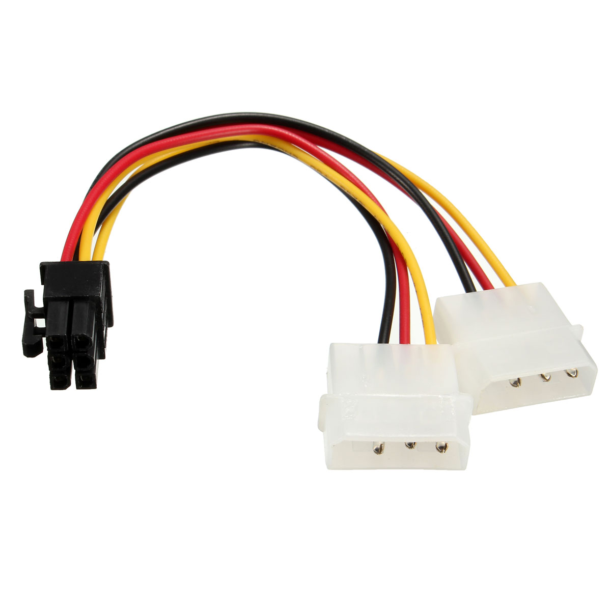 Dual 4pin Ide To 6pin Pci E Express Graphic Card Power Cable ...