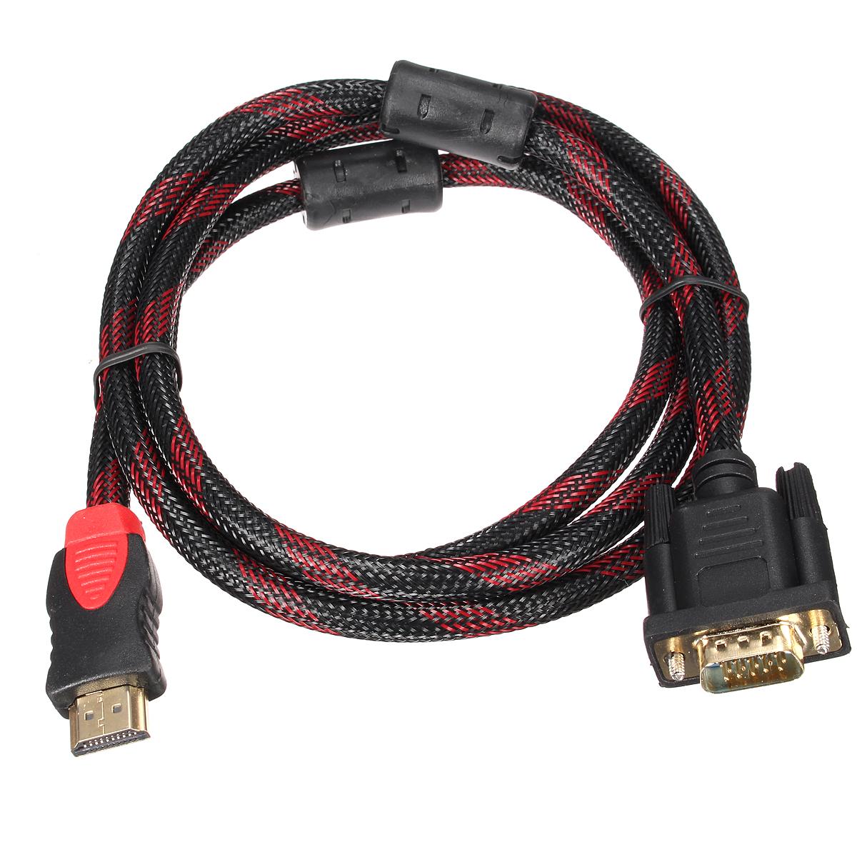 1080p hdmi male a vga male video cable adaptateur convertisseur pr pc hdtv 1 5m lazada ph. Black Bedroom Furniture Sets. Home Design Ideas