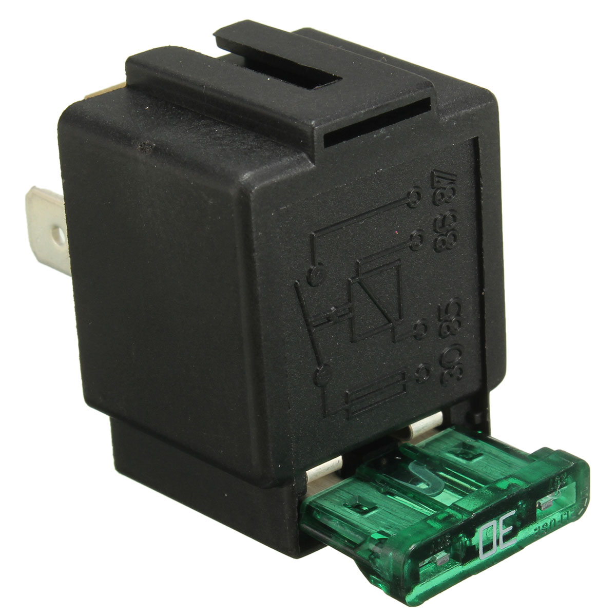 V A Car Pin Relay Normally Open Contacts Fused OnOff With - Electrical relay normally open