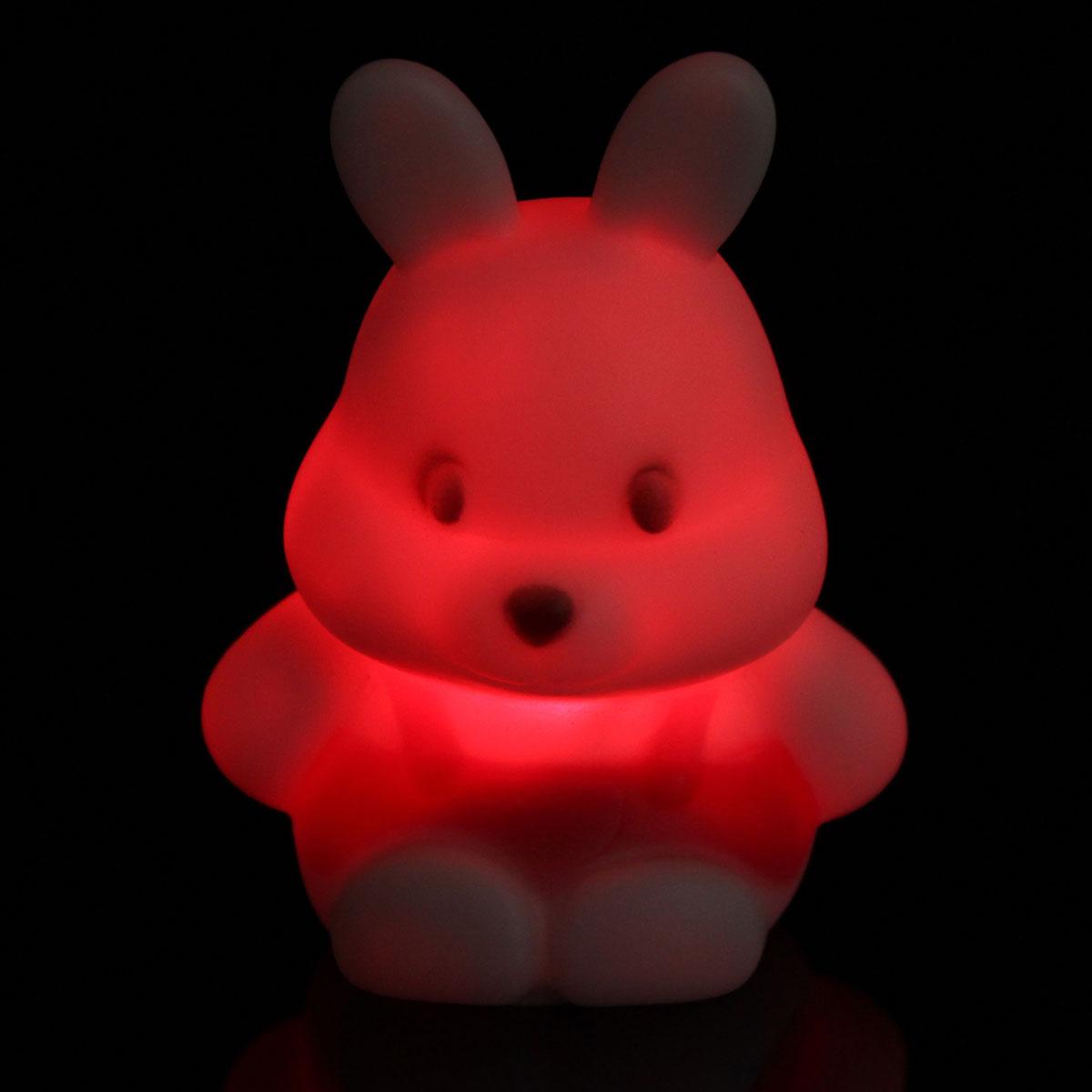 audew farbwechsel hase form led nachtlicht lampe kinder. Black Bedroom Furniture Sets. Home Design Ideas