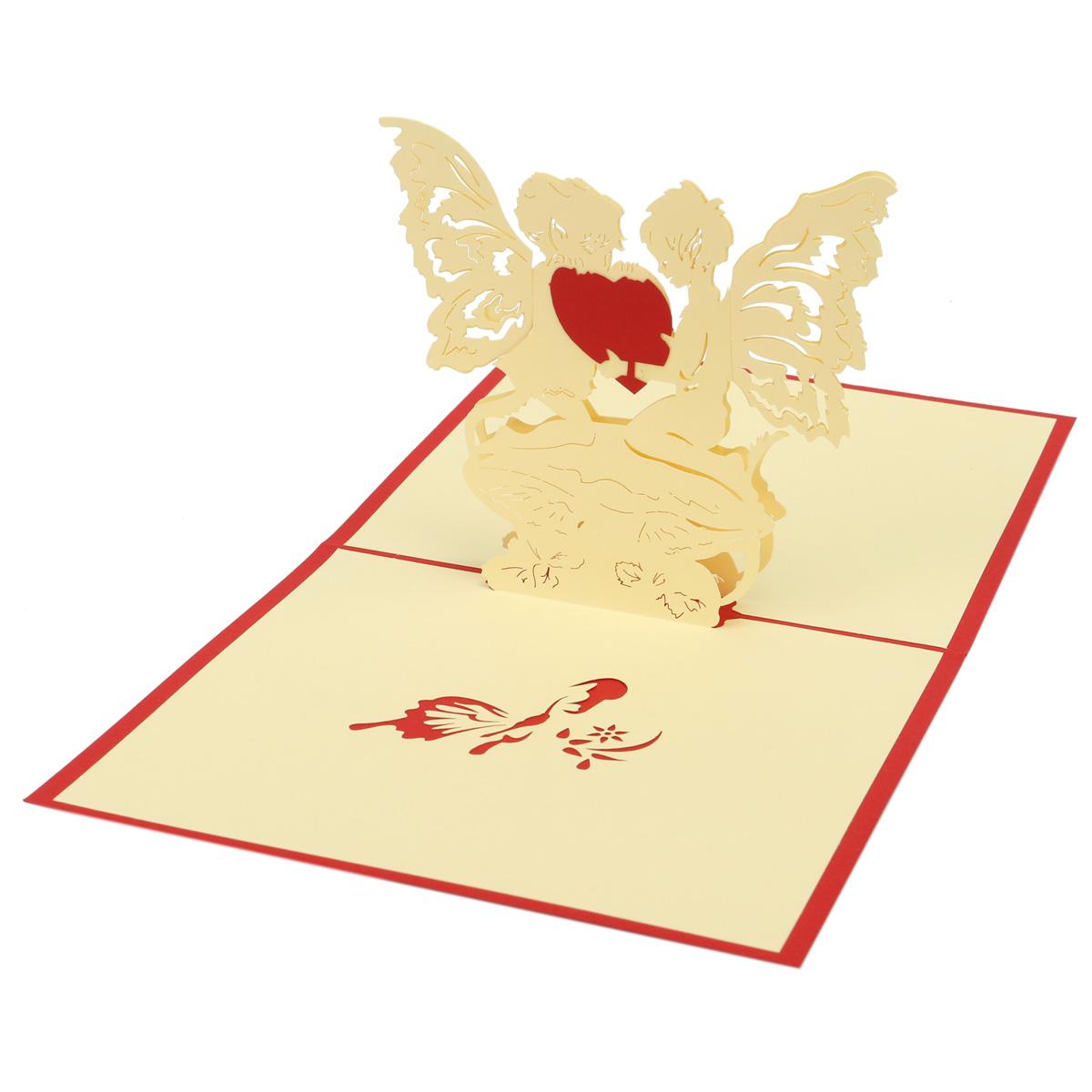 D handmade wedding valentines anniversary greeting card