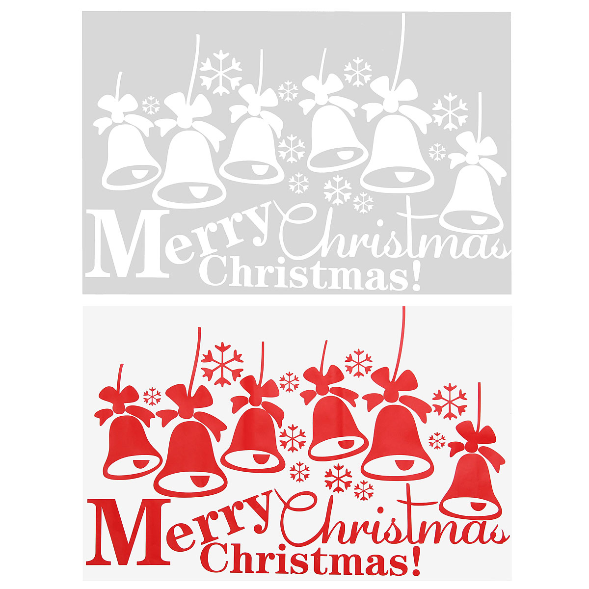 other home decor merry christmas wall sticker bell removable merry christmas santa snowman window wall