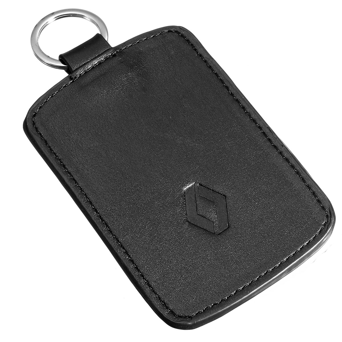 black leather car key cover case wallet holder shell for. Black Bedroom Furniture Sets. Home Design Ideas