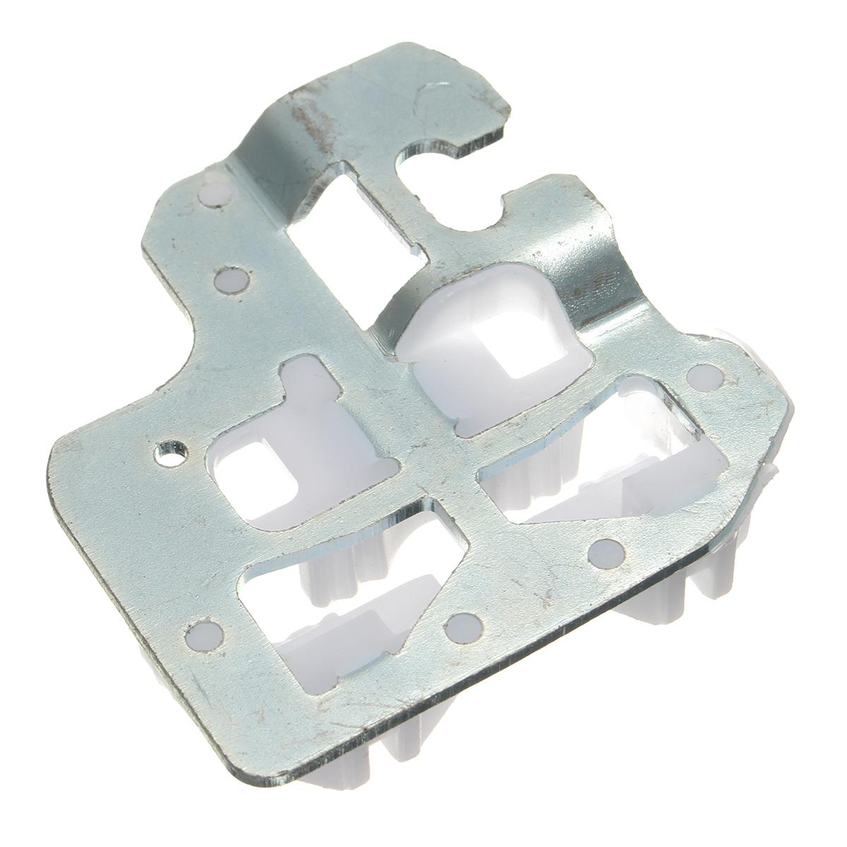 Pair left window regulator repair clip bracket front for 2001 bmw x5 window regulator replacement