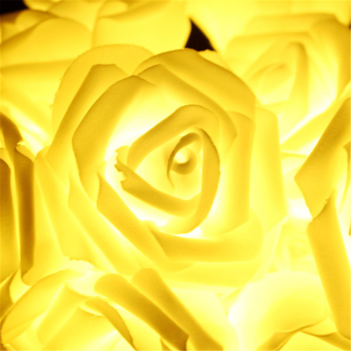 20led Flower Rose Fairy String Night Light Lamp For