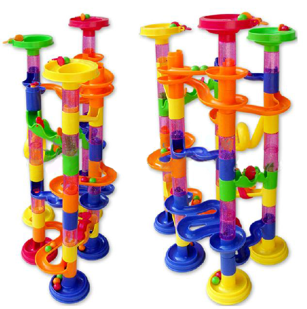 Marble Game Blocks : Marble run race children building construction blocks