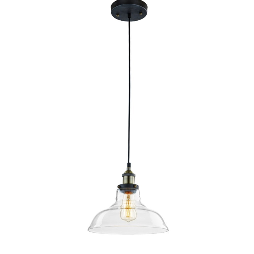E27 Vintage Industrial Ceiling Light Shade Pendant Glass