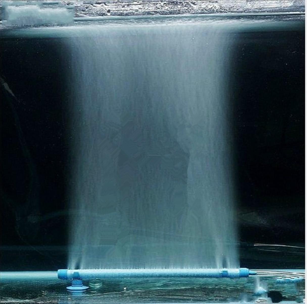 Blue Fish Tank Aquarium Air Stone Bubble Wall Tube Pump