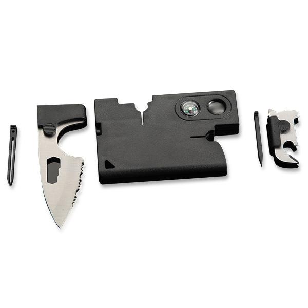10-В-1 Многофункциональный мультитул в виде кредитной карты зазубренный нож компас лупа отверток пинцет