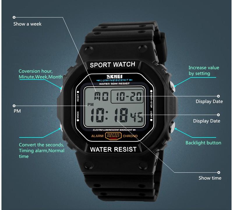 Skmei 1134 Brand Watches Men LED Digital Watch Fashion ...