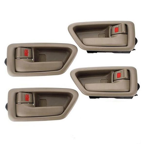 4 Inside Door Handle Set Tan For Toyota Camry 1997 1998