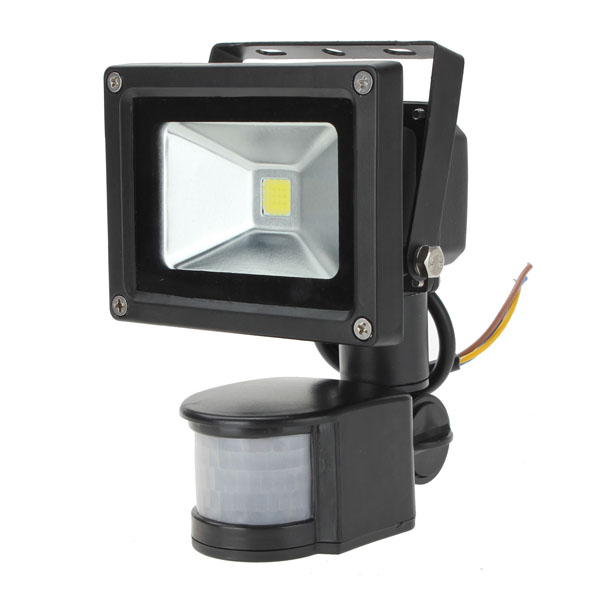 10W White PIR Motion Sensor Security LED Outdoor Waterproof Flood Light 110V