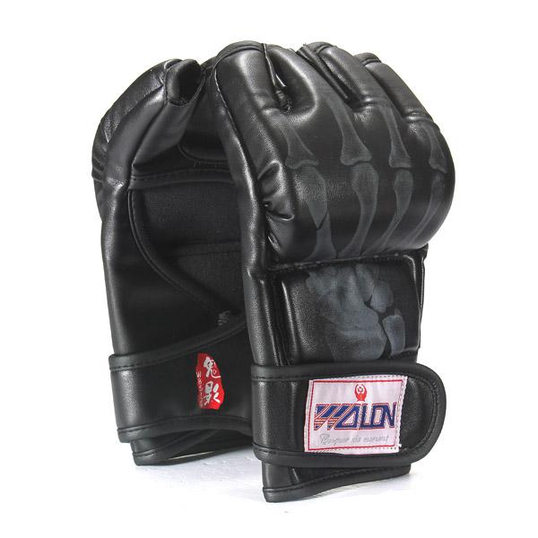 2x pu mitaine gants de boxe boxing pour combat tha muay. Black Bedroom Furniture Sets. Home Design Ideas