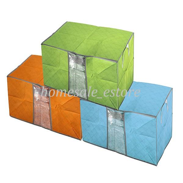 housse de rangement pour couette v tement stockage sac bo te pliable 60x42x36cm. Black Bedroom Furniture Sets. Home Design Ideas