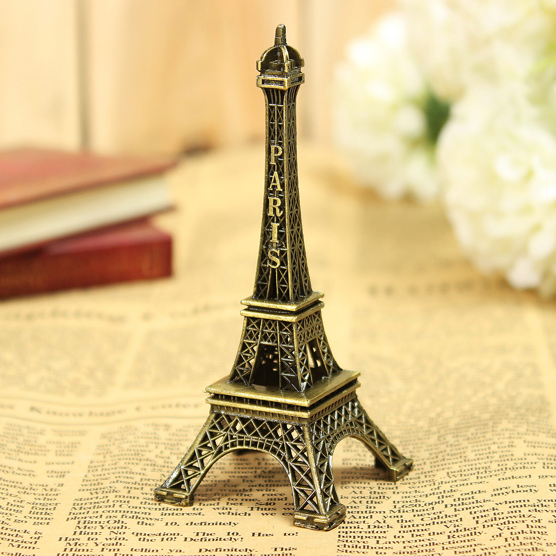 Small Eiffel Tower Wall Decor : Bronze tone paris eiffel tower figurine miniature statue