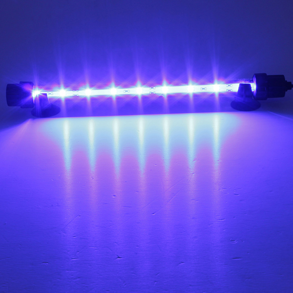 18cm lampe led 5050 smd etanche tube eclairage poisson aquarium ac 85 240v bleu achat vente. Black Bedroom Furniture Sets. Home Design Ideas